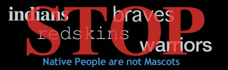 no indian mascots graphic created by Sonja Keohane